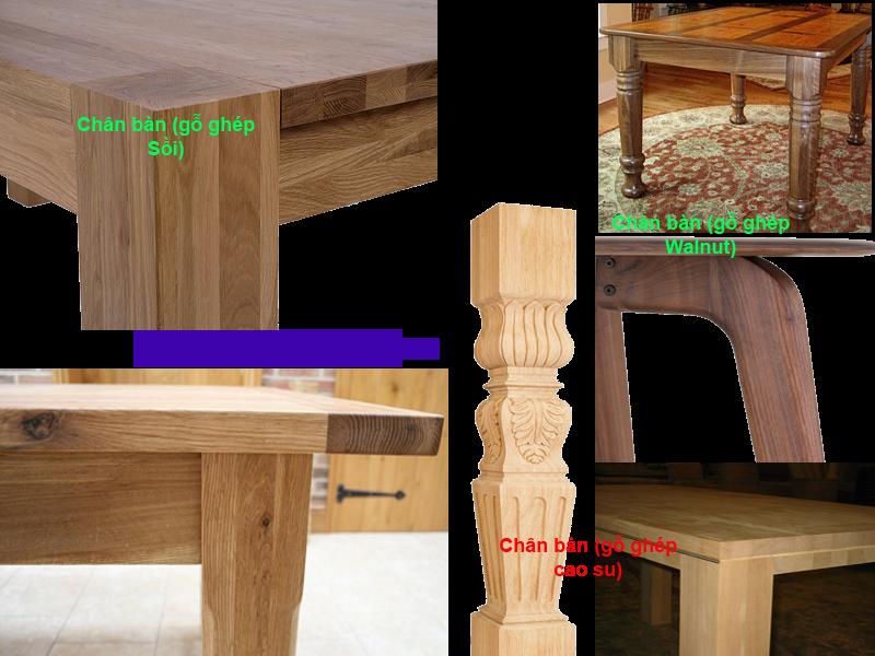 gỗ ghép làm chân bàn