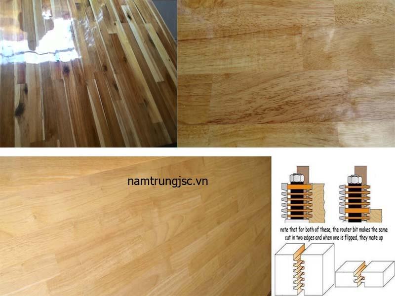 gỗ ghép phủ keo bóng