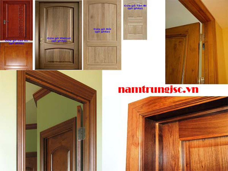Khung cửa, cánh cửa làm từ gỗ ghép