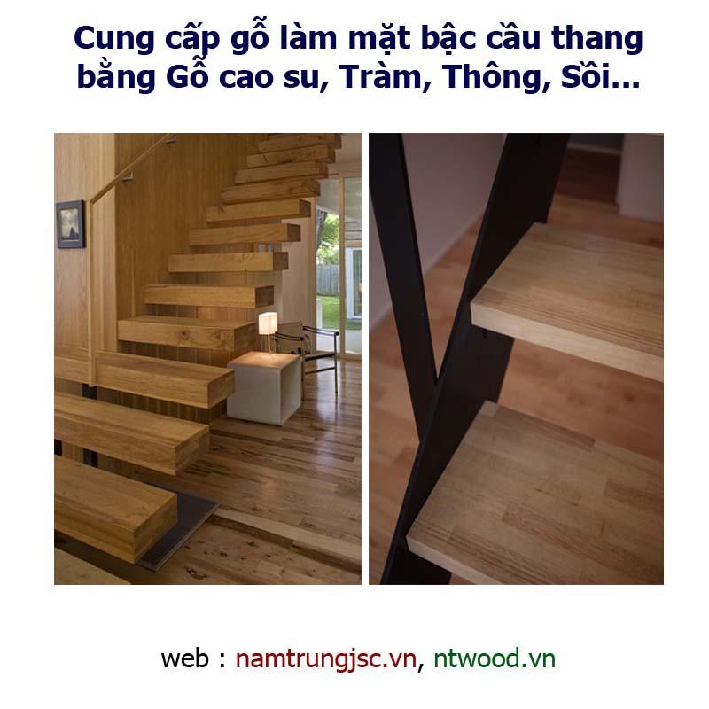 Cung cấp gỗ làm mặt bậc cầu thang