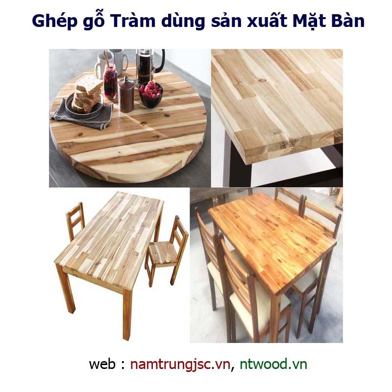 Ghép gỗ Tràm dùng sản xuất mặt bàn