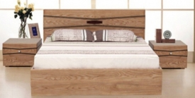 Giường gỗ phủ veneer Sồi