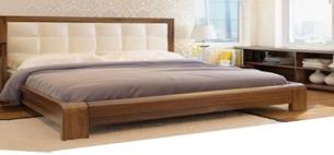 Giường gỗ phủ veneer Xoan Đào
