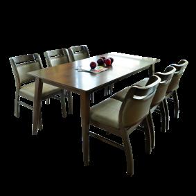 Bàn ghế gỗ phong cách hàn quốc