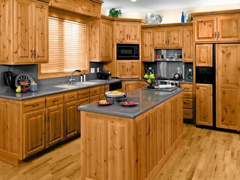 Tủ bếp gỗ thông